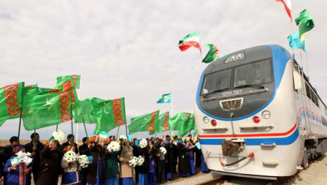 New rail line links Iran & Russia roads