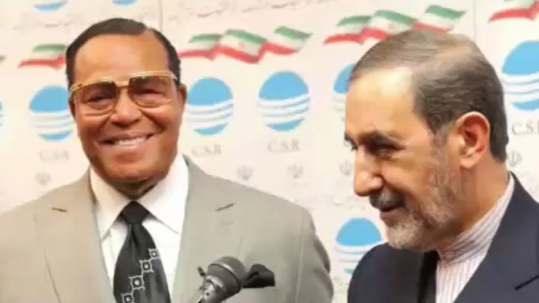 TALKING TO TEHRAN — Louis Farrakhan (left), leader of America's black Muslim group, the Nation of Islam, addressed a huge crowd at the annual celebrations marking the anniversary of the revolution last week. He also met with Ali-Akbar Velayati (right), the foreign policy adviser to the Supreme Leader. But he did not get to meet the Supreme Leader.