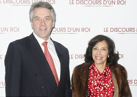 LEFT USA — The recently departed British ambassador to the US, Sir Peter Westmacott, and his Iranian wife, Susie Nemazee