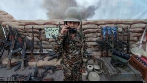 TRAINING—This pre-teen is among those being taught how to fight in a war.