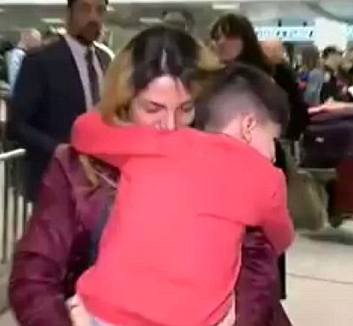 BACK WITH MOM — An unnamed five-year-old was reunited with his mother after several hours in detention outside Washington, DC.