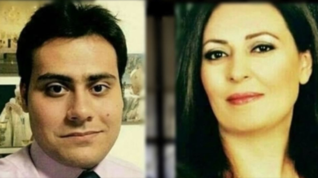 JAILED — Anooshe Rezabakhsh (right) and her son, Sohail Zargarzadeh have been jailed for converting to Roman Catholicism.